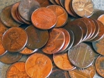 scattered pennies